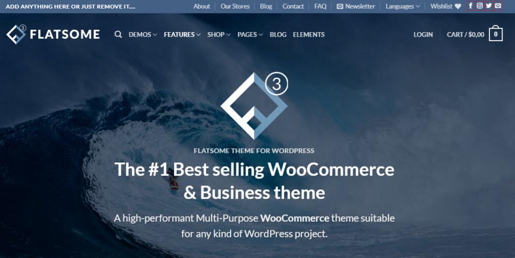 Flatsome – Theme WordPress Bán Hàng Chuẩn, Nhẹ, dễ dàng tùy biến.